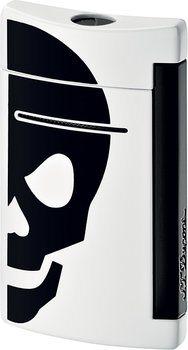 S.T. Dupont miniJet 10056 - blanc avec tête de mort noire