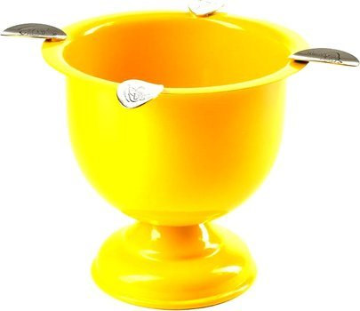 Cendrier Stinky Tall Stirrup jaune sécurité