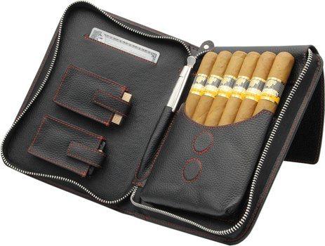 Adorini cigare, sac, vrai, cuir, rouge, fil