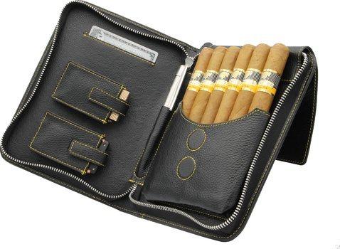adorini cigare sac en cuir véritable cuir jaune