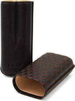 Étui à cigares Davidoff R-2 en cuir brun dur