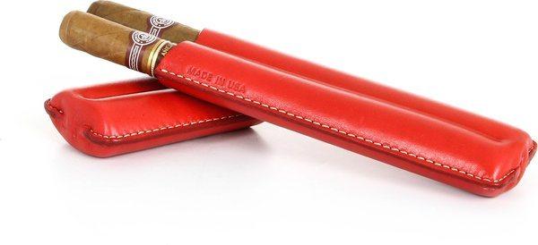 Pochette à cigars double Reinhold Kühn rabattable Top rouge