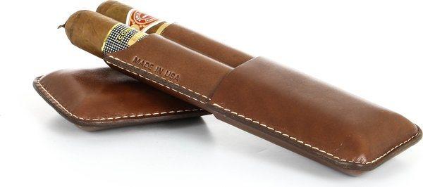 Boite Cigarette Double Reinhold Kühn Cognac Lisse