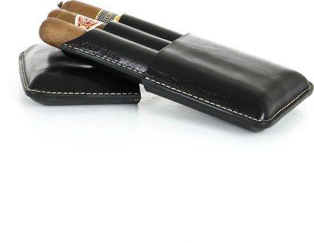 Pochette à cigares triple Reinhold Kühn noir