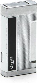 Caseti Briquet chromé et laque noire (Caseti Homme Briquet Chrome / Noir)