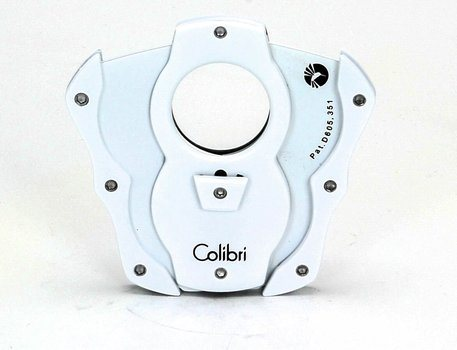 Colibri 'Cut' Double-Guillotine Coupe-Cigare Blanc/Blanc