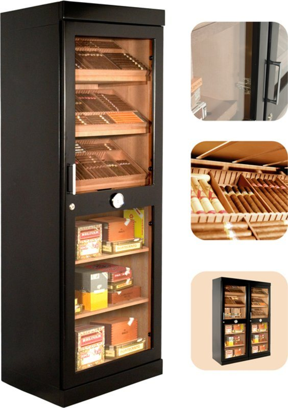 armoire cigares adorini roma noire vitrine armoire. Black Bedroom Furniture Sets. Home Design Ideas