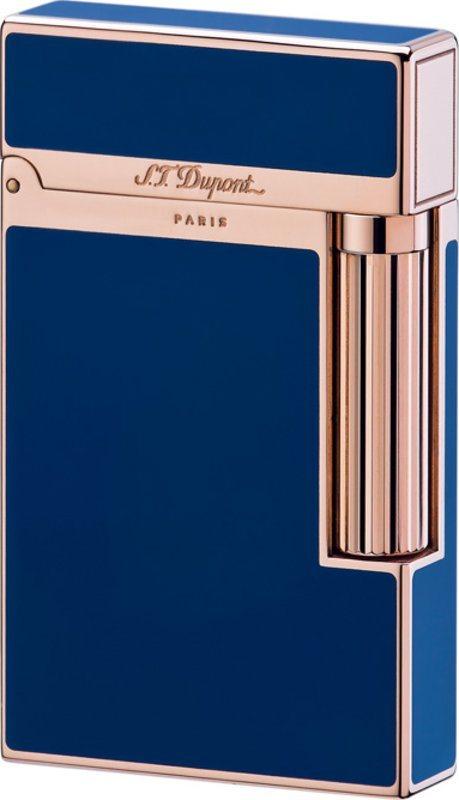 briquet s t dupont ligne 2 laque bleue de chine or rose. Black Bedroom Furniture Sets. Home Design Ideas