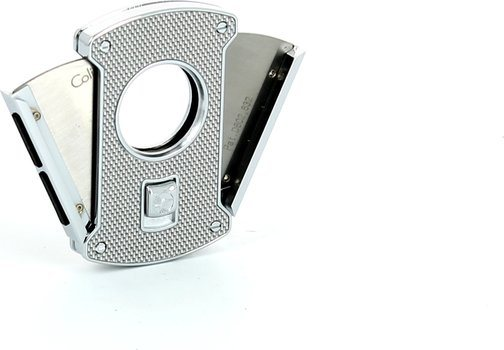 Colibri Slice Cigar cutter silver / carbon 24mm