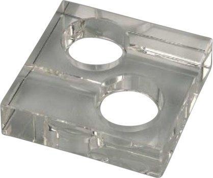 Cendrier carré en verre pour 2 cigares
