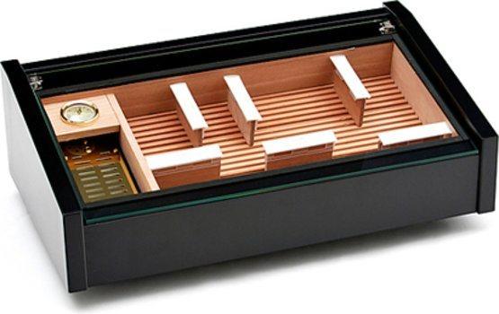 Vega (noir) - cave à cigare d'exposition Deluxe