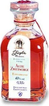 Ziegler  Quetsche 0,35l - Jg. 1996 - Eau de vie
